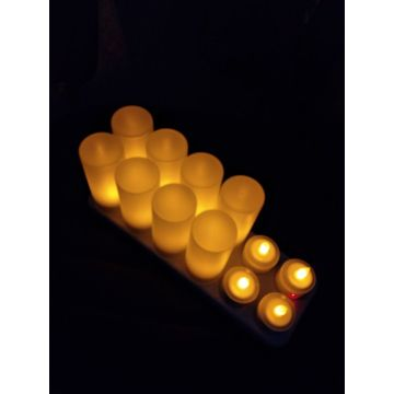 4/6/12 set murah rechargeble led tealight lilin grosir