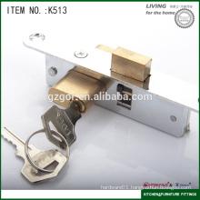 mortise sliding door lock with brass core