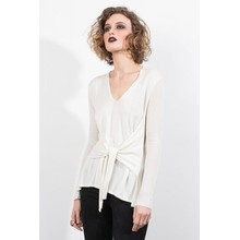 Slips Front V Neck Sweater