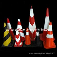 Señal de tráfico de advertencia reflectante seguridad calle conos de estacionamiento