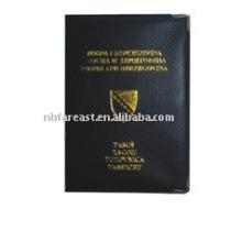 Nuevo sostenedor del pasaporte del pu & pvc del precio bajo de la manera del diseño, caso del pasaporte, cubierta del pasaporte