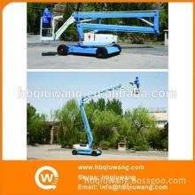 Articulating aerial platform tree climbing machine