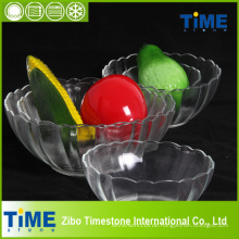 Crystal Clear Glass Salatschüssel mit Lotusform (15031301)