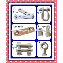 hot-dip galvanized forged clevis pole line hardware electric power line cable fitting power overhead cable tension accessories