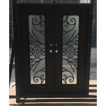 Puertas de entrada de hierro forjado de seguridad