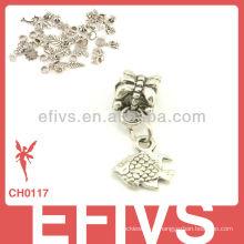 2013 Новая мода прелести рыб прелести 925 серебряные кулоны прелести