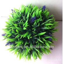Bola de grama de decoração artificial com lavanda