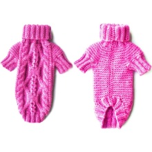 Fashionable Superior Quality Hand Knit Dog Sweater Coat Cardigan