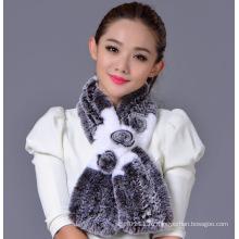 Женщины мода длинные Рекс кролика шарф (YKY4397)