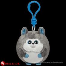 OEM design; Stuffed soft factory plush husky keychain