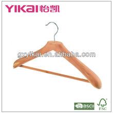 Zedernmantel-Kleiderbügel mit runder Stange und nicht-silp PVC-Rohr