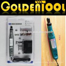 Portáteis Hobby Rotary Poder gravador Carver Polidor broca Ferramentas Die 10pcs moedor elétrico 18V kit Cordless Mini Grinder