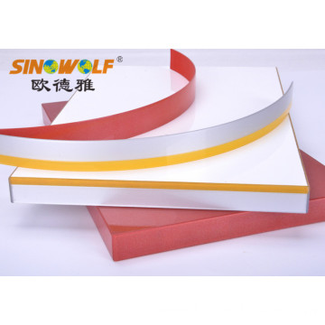 Reliable Supplier for Wood Unit Color Edge Banding Manufacturer Decorative 3D-Acrylic edge banding for furniture supply to United States Manufacturers