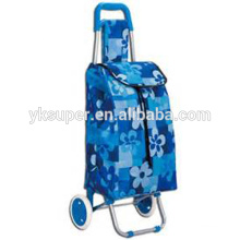 Supermarket portable trolley with removable bags