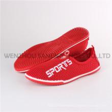 Últimas zapatos de lona de Lady Sock Injection Shoes