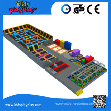 Kidsplayplay Commercial Trampolines Park with Many Games Like Ninja Course