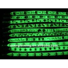 cordón de luz brillante con logo
