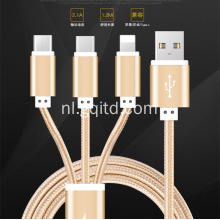 3 in1 High Speed ​​USB mobiele telefoon opladen data voor iphone & andriod