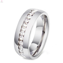 Cheap Titanium And Stainless Steel Rings With Gemstone For Women