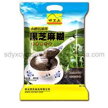 Kundengebundener Aluminiumfolie-Dichtungs-Plastikverpackungs-Beutel des Nahrungsmittelgrad-3-Side für Sanck-Lebensmittel täglich