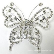 Vente en gros de bijoux pour femmes Vintage Beautiful Butterfly Brooch Pin