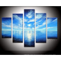 Beautiful Seascape Oil Painting on Canvas Picture for Home Decoration (SE-180)