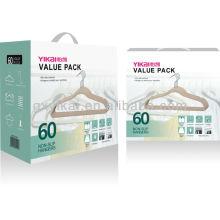 Conjunto de 60pcs misturado flocking cabides pacote