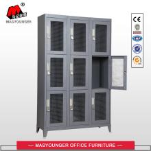 metal mesh 9 door locker with feet