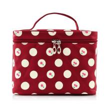 Lady Fashion Cherry Printed Nylon Makeup Cosmetic Beauty Bag (YKY7535)