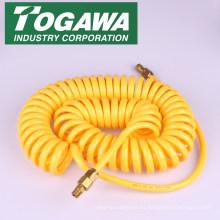 Manguera de aire de plástico enrollada para una conexión rápida. Fabricado por Togawa Industry. Hecho en Japón (manguera de alta presión del pvc)