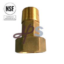 Forged lead free brass water meter tail NSF-61 material standard