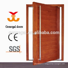 Exterior entrance pivot door wood