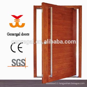 Exterior entrance pivot door wood