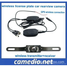Night Vision Wireless License Plate Car Rear View Camera Wireless Connecting Between Portable GPS and Car Camera