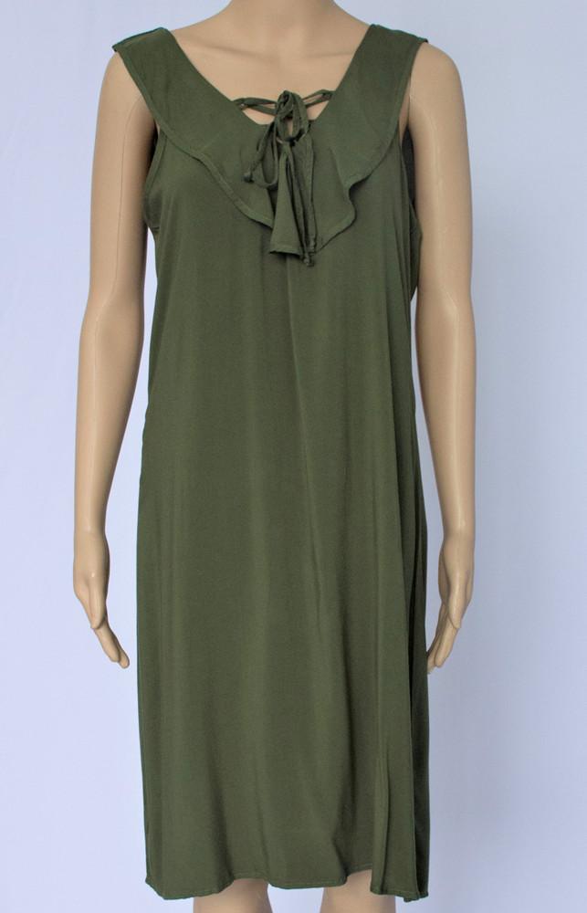 Flounce Neck Dress