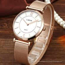 Reloj de pulsera de malla de encargo del logotipo Japón PC21 de la moda para las parejas