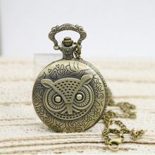 Reloj de bolsillo del reloj del reloj retro del OEM Gran reloj de bolsillo del reloj del búho