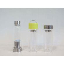 Glass Bottle Factory 500ml/16.89oz Wholesale Glass Bottle Wedding Invitations/ Clear Borosilicate Glass Water Bottle