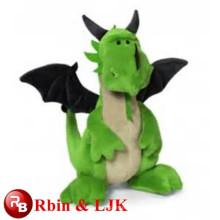 2015 juguete de peluche dragón verde