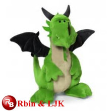 2015 plush toy green dragon