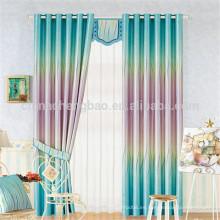 Patrón teñido de hilo y retardo de llama Característica cortina de la ventana