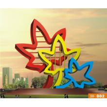 Moderne große berühmte Kunst Abstrakte Edelstahl Skulptur für Outdoor Dekoration