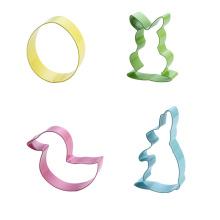 Ensemble de 4 emporte-pièces de lapin de Pâques coloré