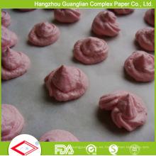 Hoja de papel antiadherente antiadherente para horno de 40GSM precortada