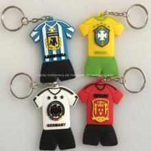 Werbeartikel Fußball Team Jersey Pvc Schlüsselanhänger