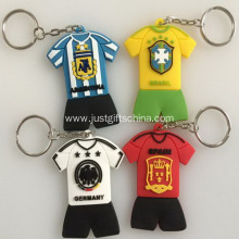 Promotional Football Team Jersey Pvc Keyrings