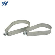 Abrazadera galvanizada pesada del tubo de la suspensión de la banda del acero inoxidable de la regadera