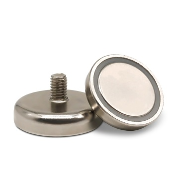 Super Strong Neodymium Pot Magnet with external thread