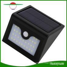 28 LED de iluminación al aire libre Sensor de movimiento infrarrojo lámpara de pared solar a prueba de agua patio jardín luz solar de emergencia