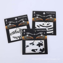 Skin Safe Temporary Sticker Design Non-toxic Fashion Promo Party Hand Black Tattoo Sticker